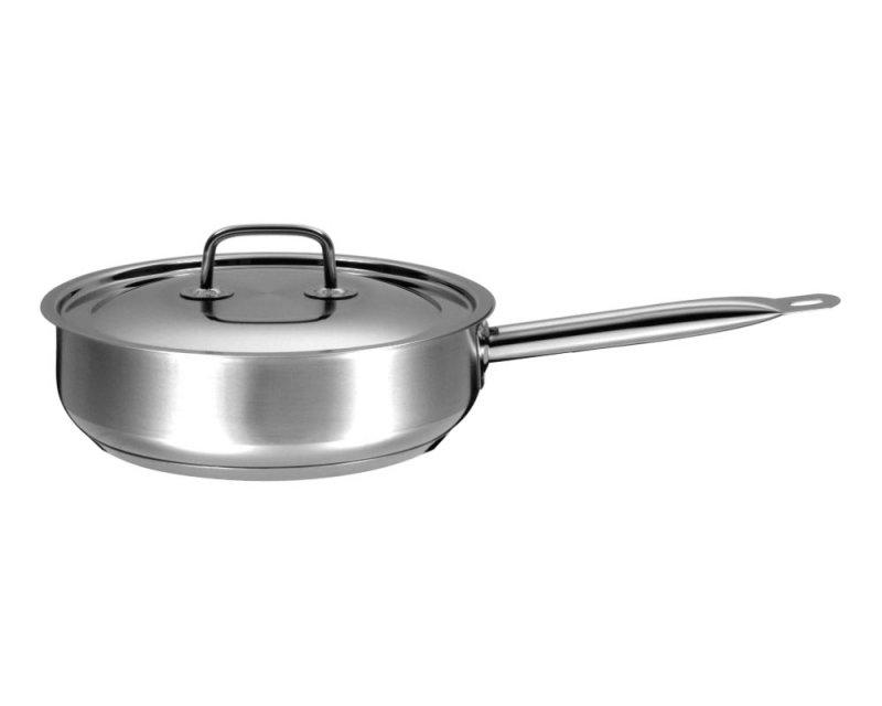 Сковорода 240 мм Гурман - Профи из нержавеющей стали с тройным дном
