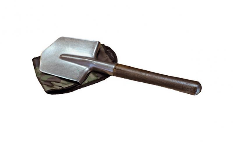 Лопата титановая с черенком в чехле автомобильная