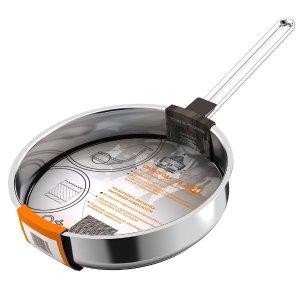 Сковорода 240мм Гурман - Классик из нержавеющей стали с тройным дном ( ГРИЛЬ), без крышки